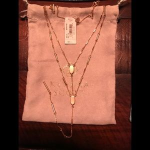 Kendra Scott Adelia Y necklace - Gold/Brushed Gold